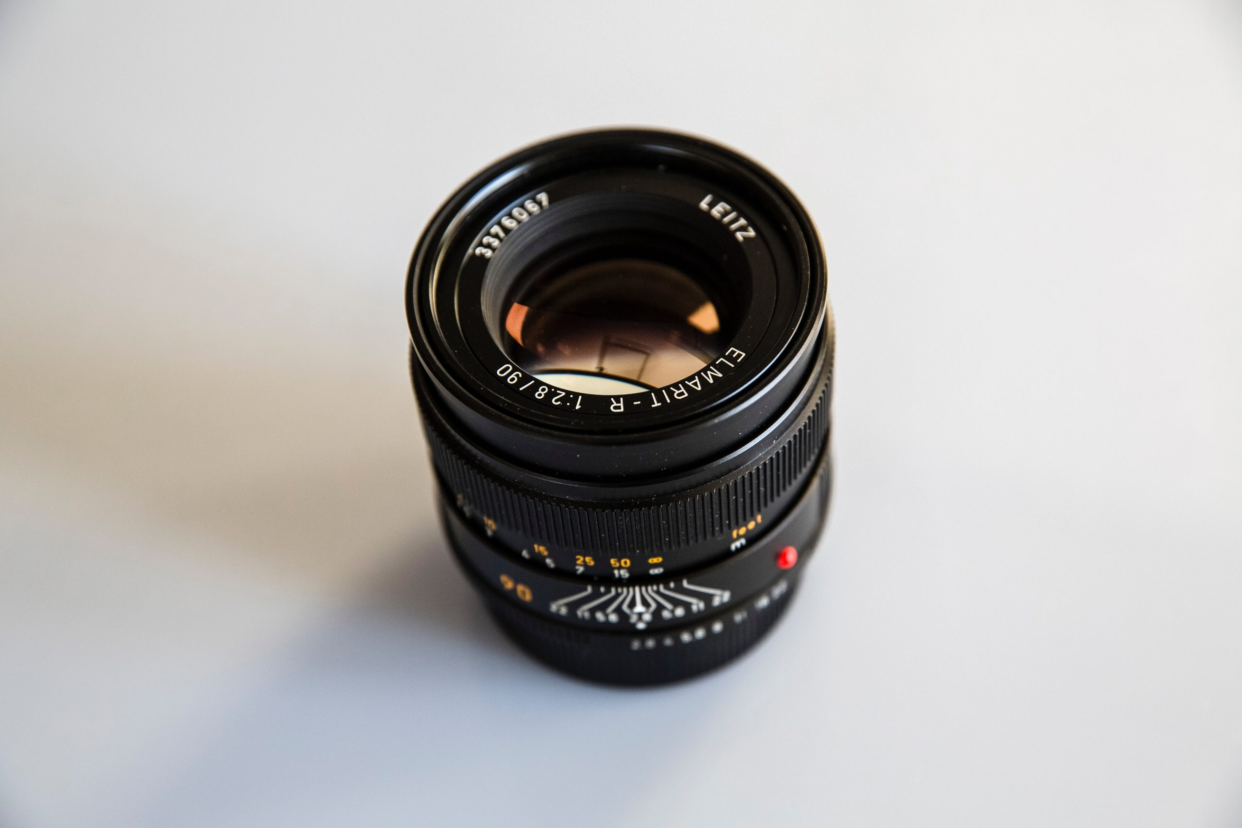 zoom lens with white background